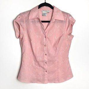 3/$30 Light Pink Embroidered Short Sleeve Top